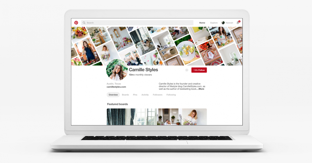 Pinterest new profiles