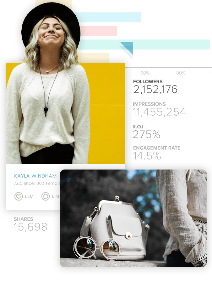 Fashion and lifestyle influencer profiles and follower statistics